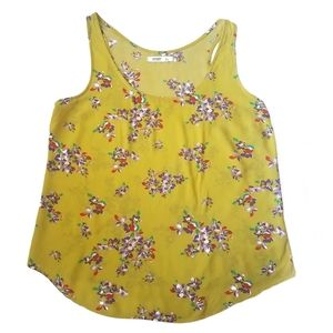 Flower Print Tank Top Size Large